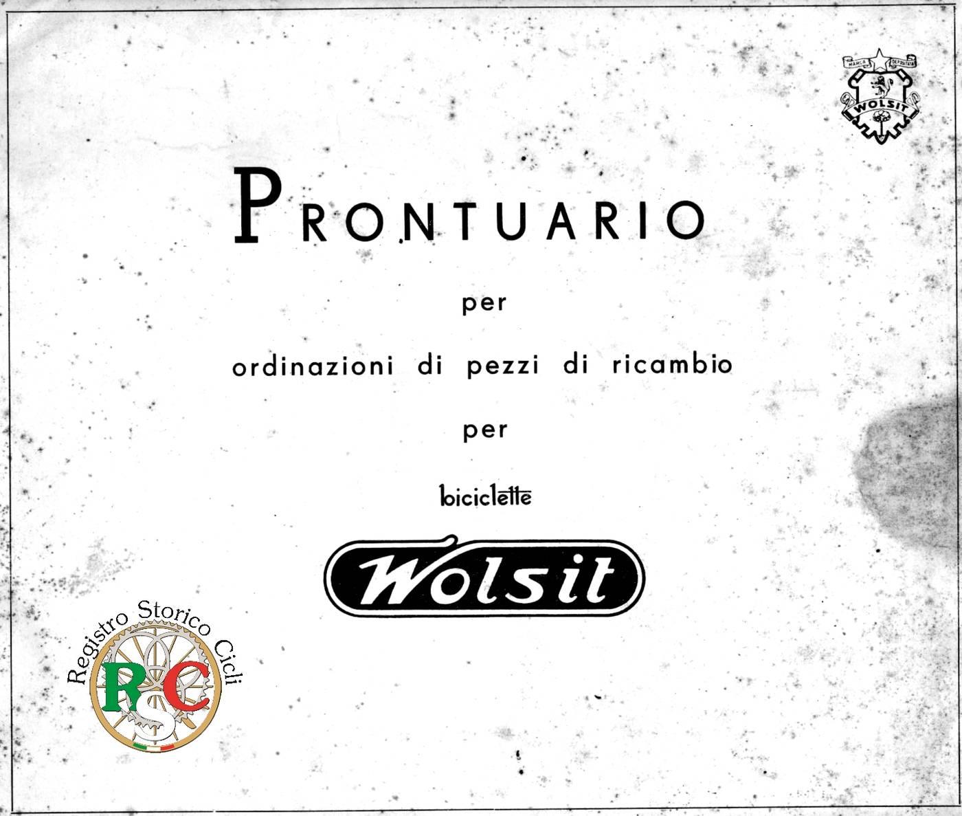 RSC - Catalogo Ricambi Wolsit 1950 - 1