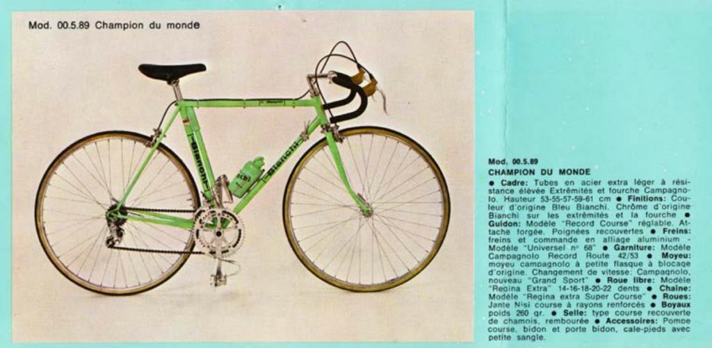 Campione del Mondo dal catalogo francese del 1975