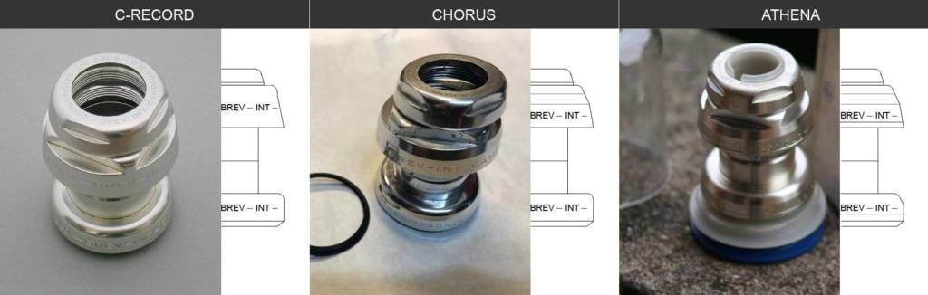 Serie sterzo Campagnolo C-Record, Chorus, Athena