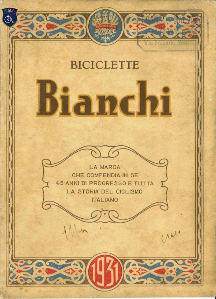 catalogo Bianchi 1931